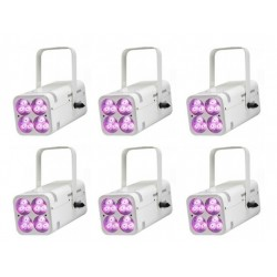 Pack 6 projecteurs rgbw led...