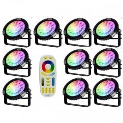 Pack 10 projecteurs flat...